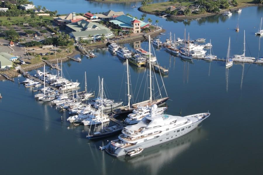 Fiji Port Denarau Marina with Superyachts