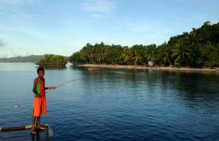 Raja Ampat boy fishing