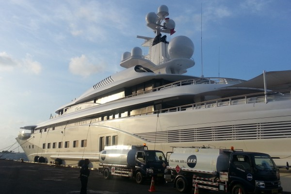 Superyacht at Benoa Harbour, Bali